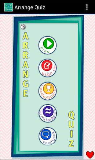 Arrange Quiz