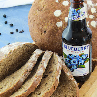 Blueberry Oatmeal Stout Sourdough Loaves