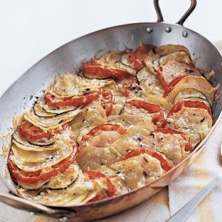 Potato, Zucchini, and Tomato Gratin.