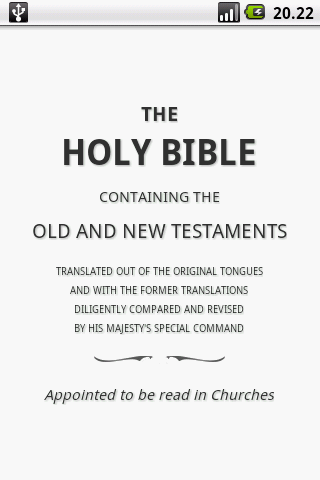 Holy Bible (KJV)- screenshot