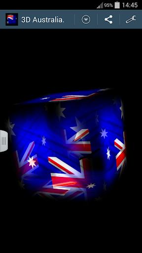 3D Australia Cube Flag LWP