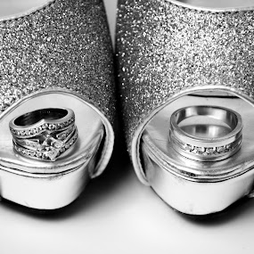 perfect pair by Star Image - Wedding Details ( shoe wedding bride groom white and black )