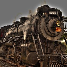 HDR Train by Keith Wood - Transportation Trains ( kewphoto, hdr, poconos, train, keith wood,  )