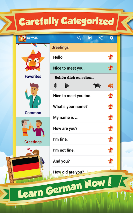 Learn German - DE Translator - screenshot