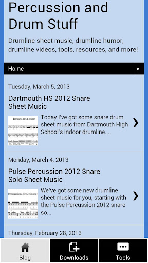 Drumline Sheet Music