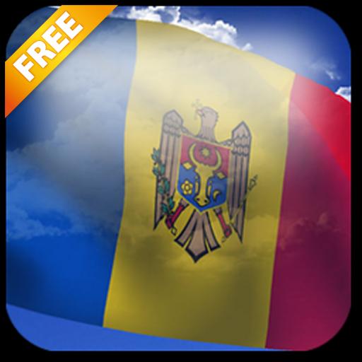 3D Moldova Flag Live Wallpaper