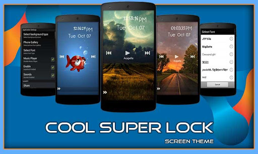 Cool Super Screen Lock Theme