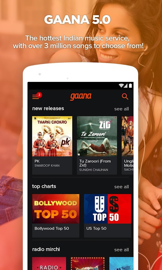Gaana: Bollywood & Hindi Songs - screenshot
