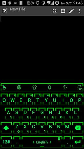 キーボードのテーマ NeonGrn2