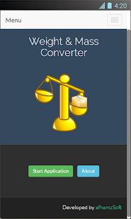 Weight and Mass Converter Screenshot 1