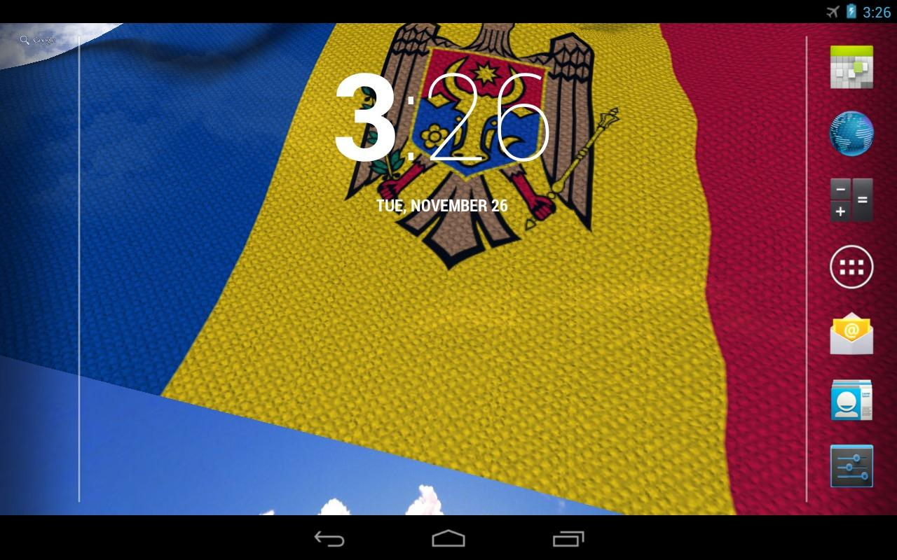 3D Moldova Flag LWP- screenshot