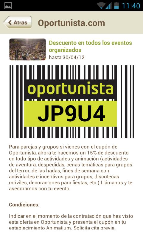 Oportunista - screenshot