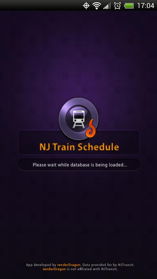 NJ Train Schedule- screenshot