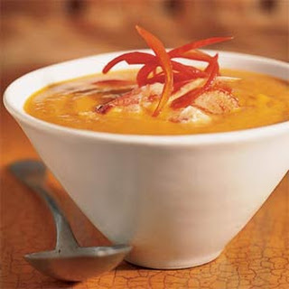 Curried Butternut Squash Soup with Crab