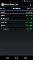 Screenshot of Where Money Go?
