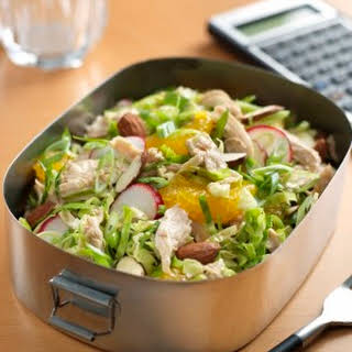Chinese Chicken Salad with Brussels Sprouts.