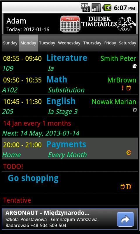 Smart Timetable Planner 3.0 - screenshot