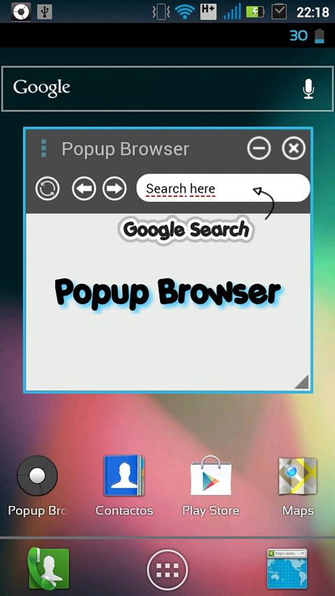 Popup Browser BETA - screenshot