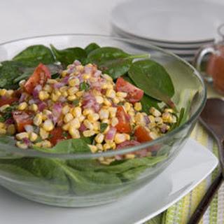 Summer Spinach & Corn Salad.