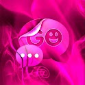GO SMS Theme Pink Fire icon
