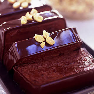 Chocolate-Peanut Butter Terrine with Sugared Peanuts.