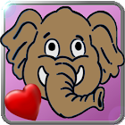 Baby Elephant in love icon