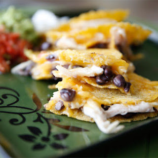 Quick & Easy Black Bean, Cheese & Chicken Quesadilla