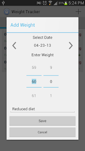 Weight Tracker - screenshot thumbnail