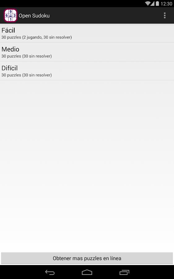 Open Sudoku - screenshot