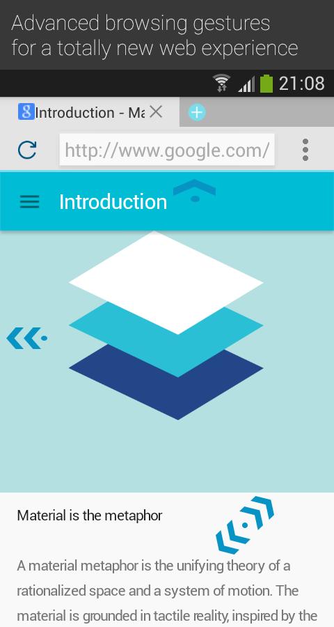 Now Browser (Material) - screenshot