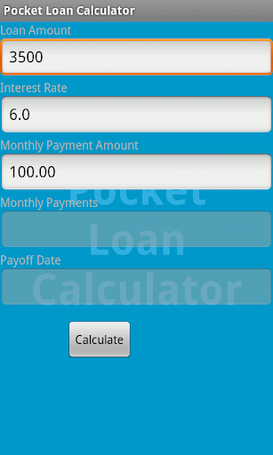 Pocket Loan Calculator