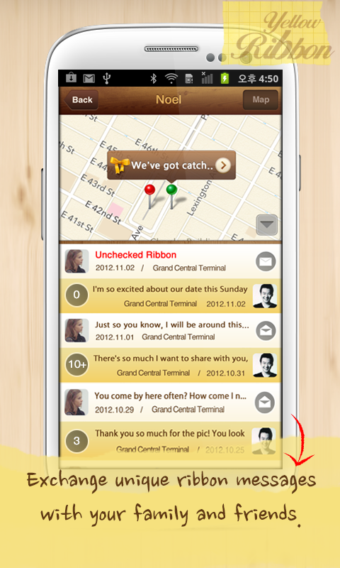 YellowRibbon -sweetest letters - screenshot