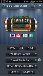 Digital Clock Widget- screenshot thumbnail