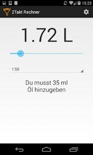 app 2 takt gemisch rechner apk for windows phone android games and apps. Black Bedroom Furniture Sets. Home Design Ideas