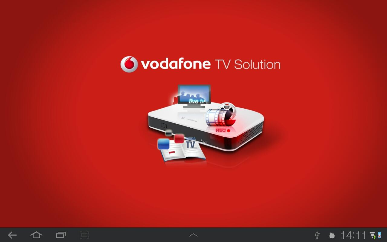 Vodafone TV Solution Tablet - screenshot