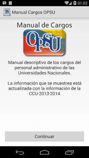 Manual de Cargos OPSU