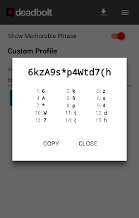 Deadbolt Password Generator- screenshot thumbnail