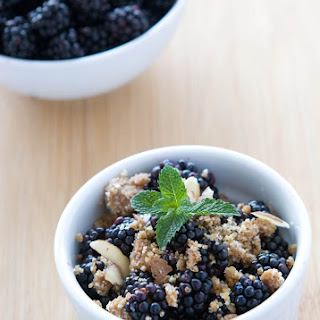 Gluten Free Raw Blackberry Crisp