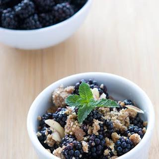 Gluten Free Raw Blackberry Crisp.