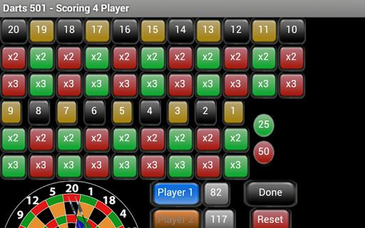 Darts 501 Scoring - Free