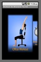Screenshot of Wherever Workout