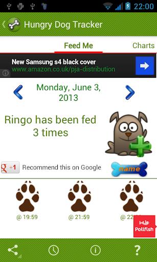 Hungry Dog Tracker Reminder