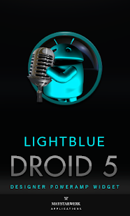 Poweramp Widget Lightblue Droi- screenshot thumbnail