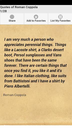 Quotes of Roman Coppola