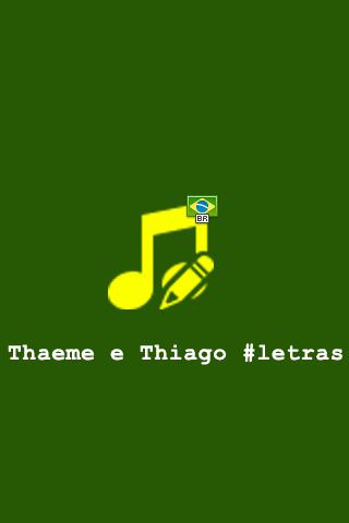 Thaeme e Thiago Letras