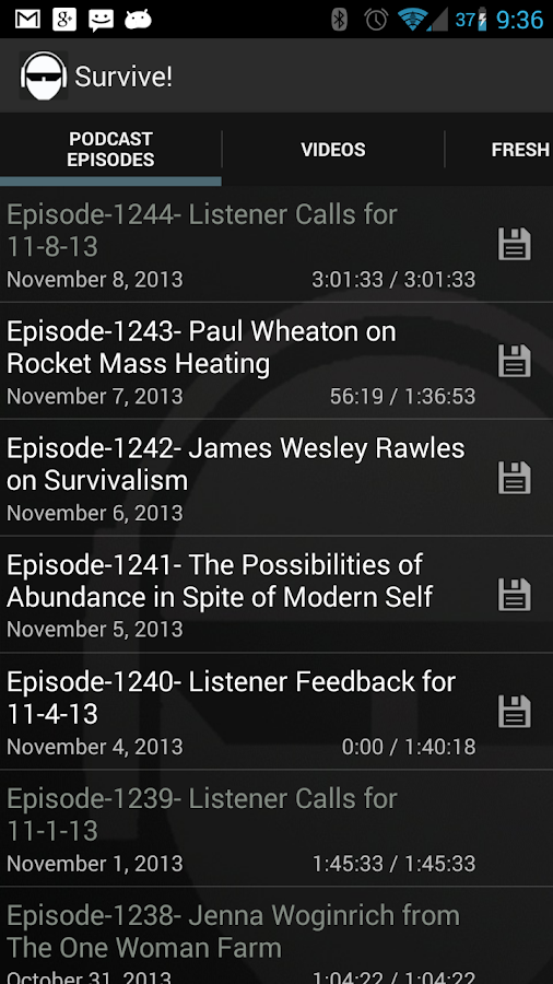 The Survival Podcast - screenshot