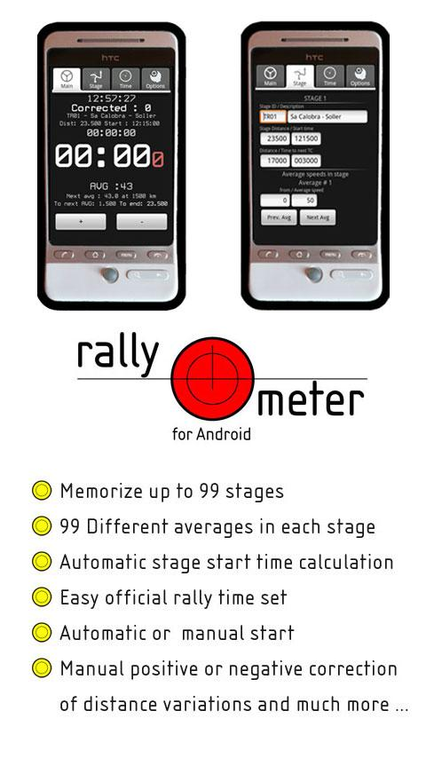 RallyMeter Historic rally tool - screenshot