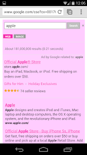 Pink Search for Google™- screenshot thumbnail