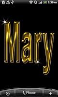 Screenshot of Mary Gold Name