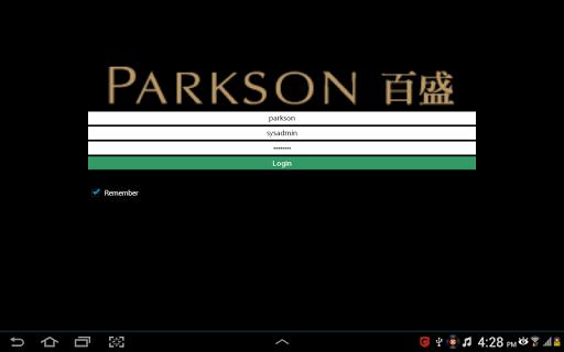 Parkson Supplier Portal